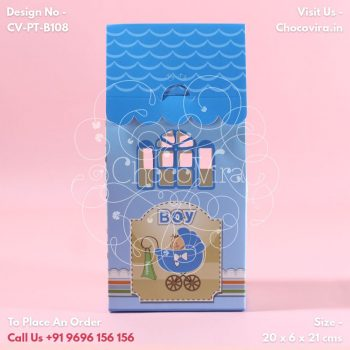baby boy announcement gift boxes