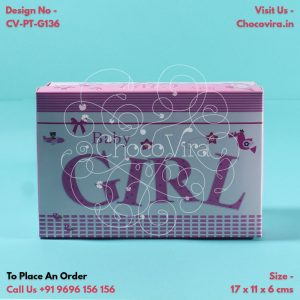 baby girl announcement boxes