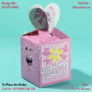 baby girl announcement chocolates