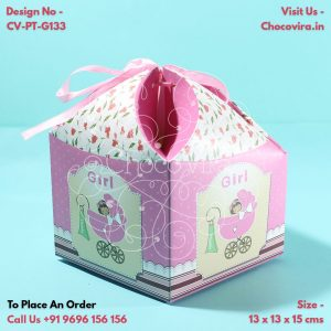 best chocolate boxes for baby girl announcements
