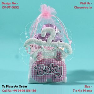 handmade chocolate boxes for baby girl announcement