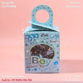 square best baby boy announcement chocolate boxes