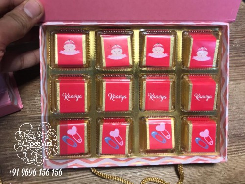 Baby girl announcement chocolate boxes in india