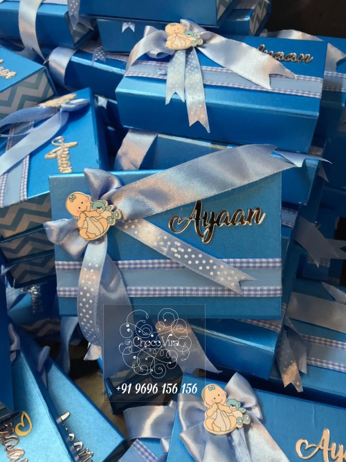 Customized & personalized baby birth announcements chocolate boxes in mumbai