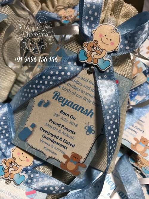 small and cute baby boy birth announcement gits under 150 rs in india