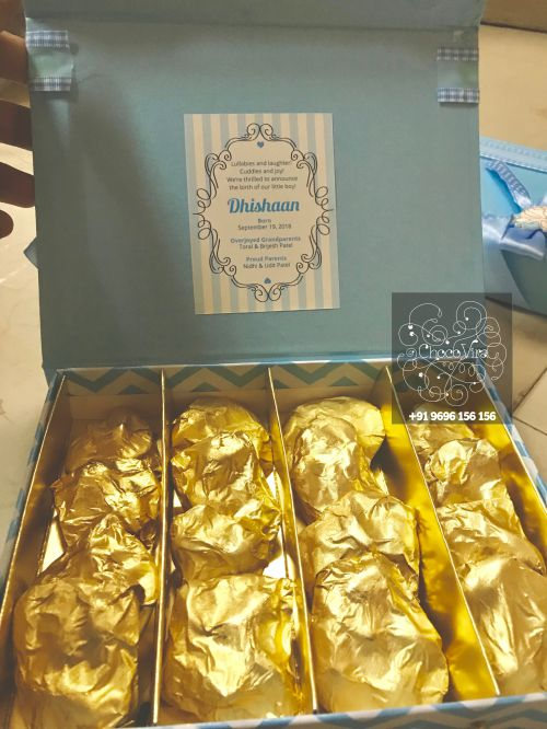 chocolate box for baby born announcements in mumbai india