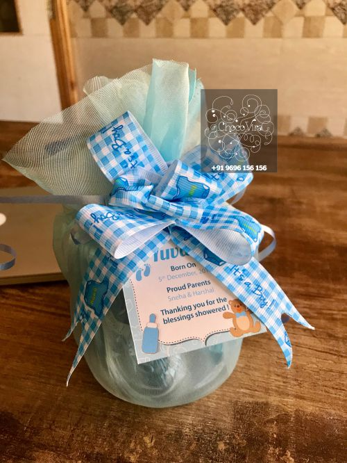 glass jar hamper for baby announcements in india