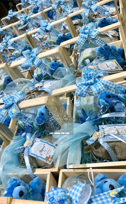 new baby boy announcement wooden gift hampers in india