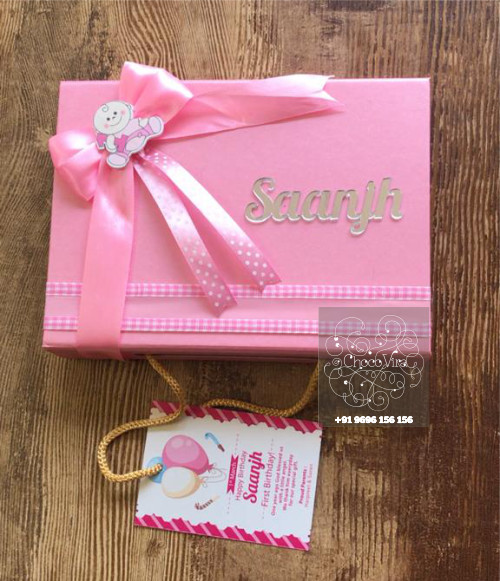 first birthday customized chocolate gift return boxes