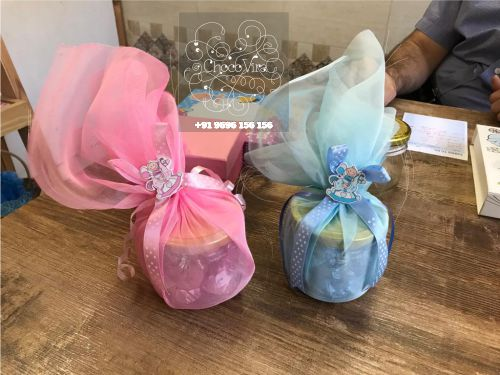 twins boy & girl birth announcement hampers